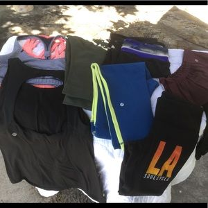 LULULEMON bundle of 9 paces very good condition